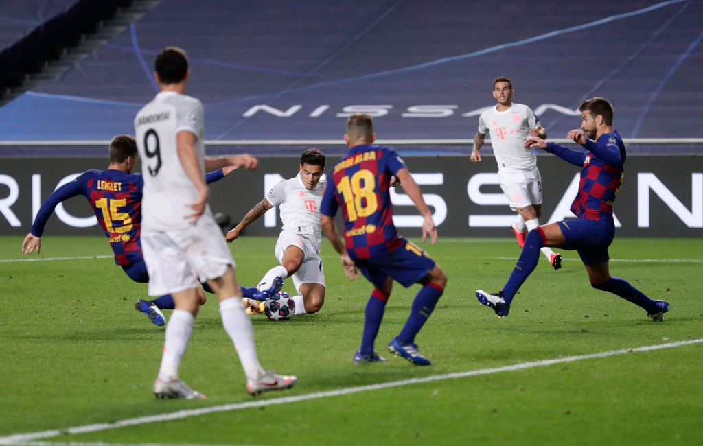 Бавария унизила Барселону и вышла в полуфинал Лиги чемпионов
