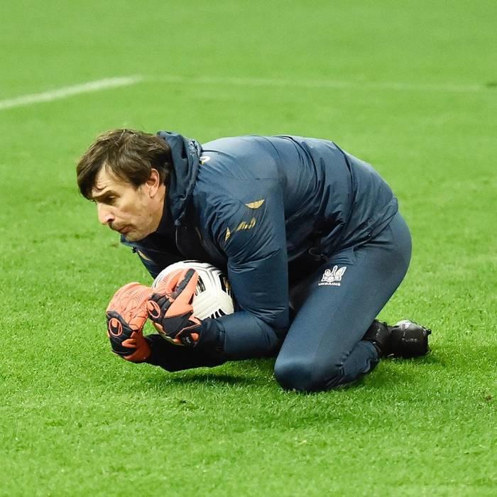 Александр Шовковский на тренировке сборной Украины