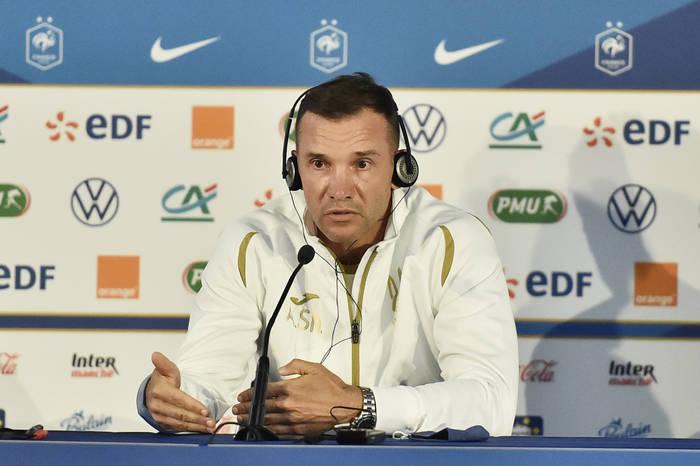 Андрей Шевченко на предматчевой пресс-конференции