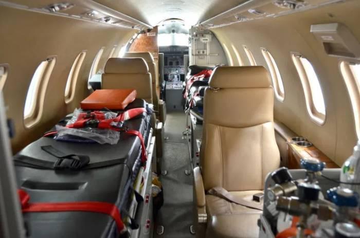 Внутреннее обустройство самолета, оборудованного для перевозки Роналду