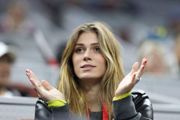 Ольга Шарипова на матче Александра Зверева в октябре 2019 года