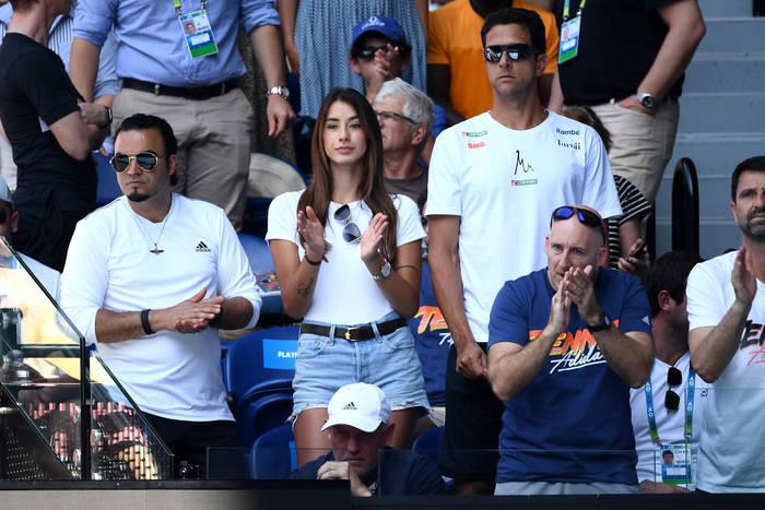Бренда Патеа в ложе Александра Зверева на Australian Open 2020