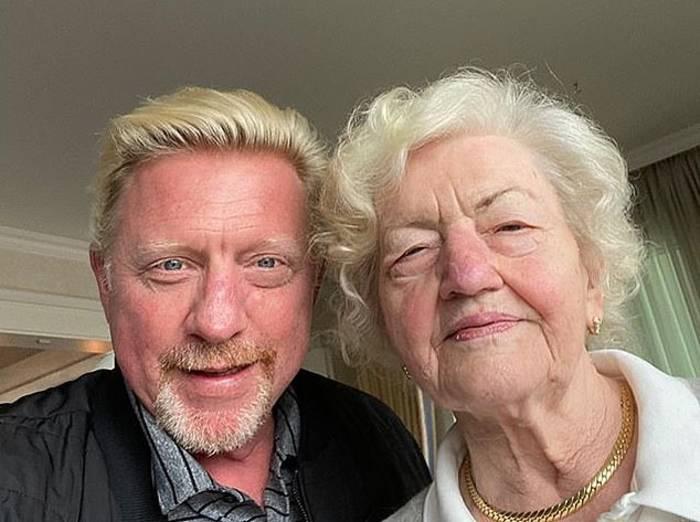 Борис Беккер с матерью Элеонорой