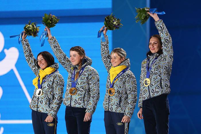 """""""Золотая"""" эстафетная четверка Олимпиады в Сочи"""