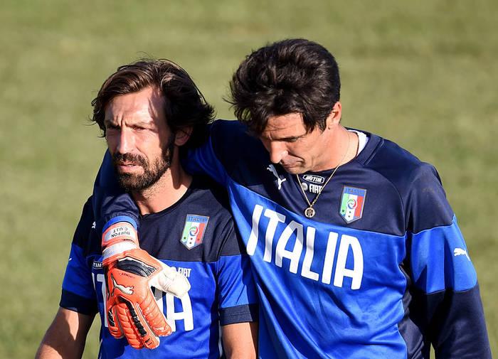Андреа Пирло и Джанлуиджи Буффон в сборной Италии
