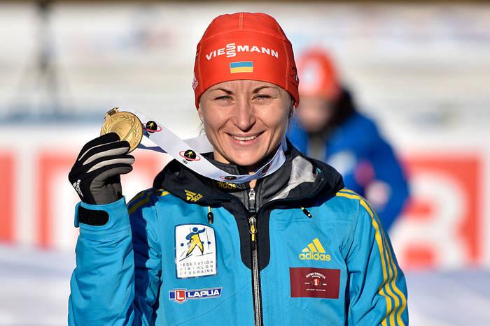 Валя Семеренко с золотой медалью ЧМ-2015