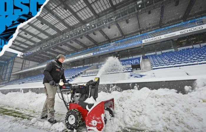 Стадион Арминии завалило снегом / arminia-bielefeld.de