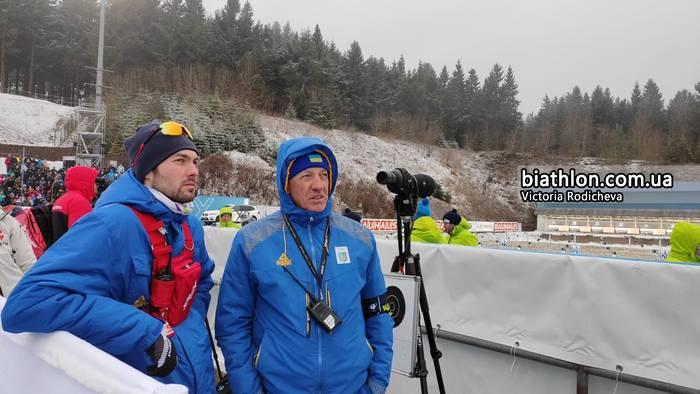 Главный тренер сборной Украины Юрай Санитра (справа)