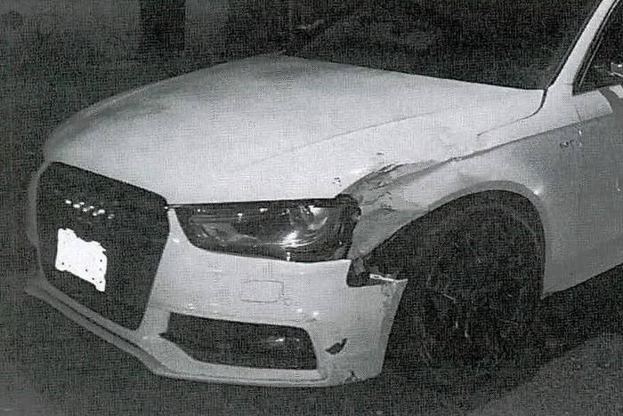 Автомобиль Audi A4, принадлежащий Самбрано
