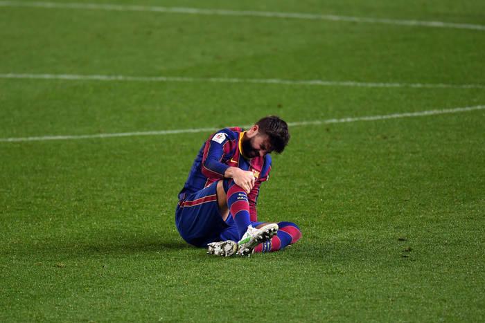 Жерар Пике получил травму в матче против Севильи