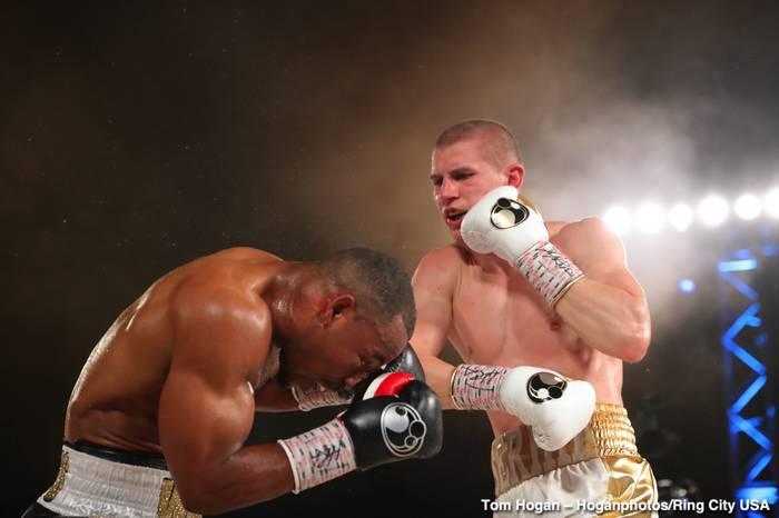 Сергей Богачук в бою против Брэндона Адамса / Tom Hogan - Hoganphotos/Ring City USA