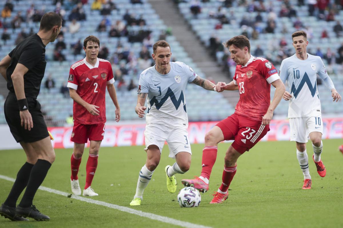 Россия - Словения 2:1 видео голов и обзор матча квалификации ЧМ-2022
