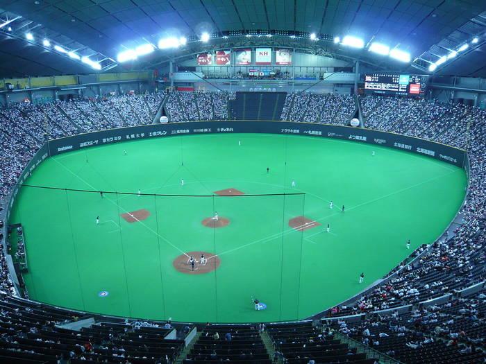 Бейсбольный матч на Саппоро Доум / sapporo-dome.co.jp