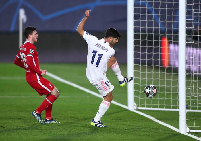 Марко Асенсио забивает в ворота Ливерпуля