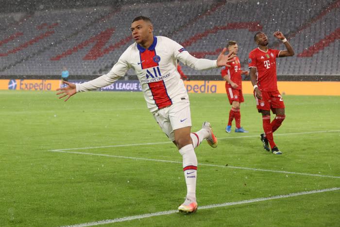 Килиан Мбаппе оформил дубль в матче против Баварии