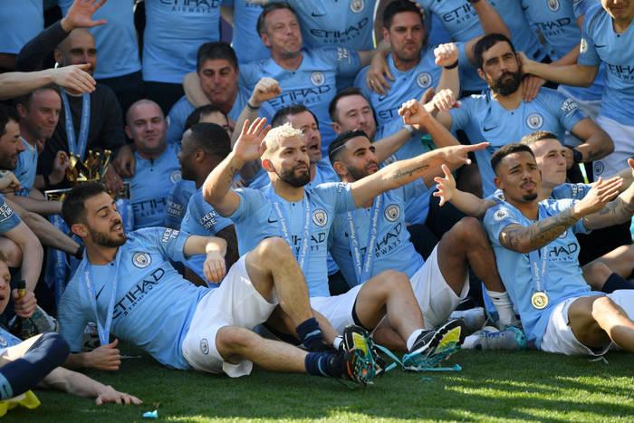 Манчестер Сити празднует чемпионство в сезоне-2018/19