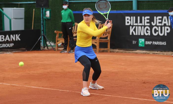 Элина Свитолина в матче за сборную Украины
