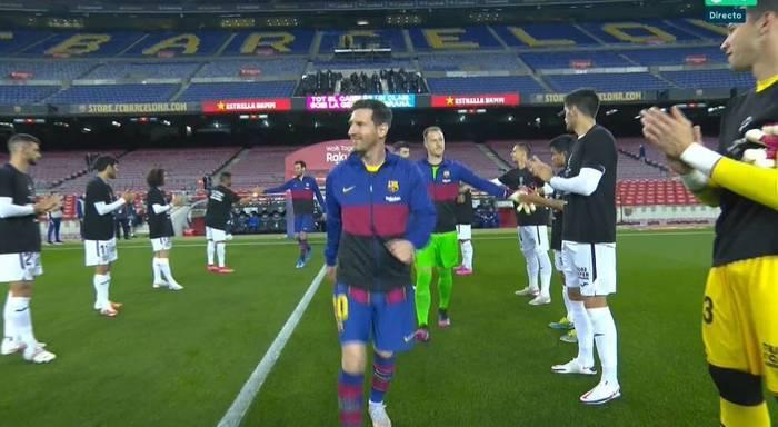 Игроки Хетафе устроили чемпионский коридор для Барселоны
