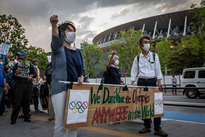Жители Японии протестуют против проведения ОИ-2020