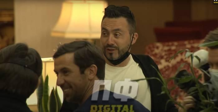 Роберто Де Дзерби на встрече с Дарио Срной в Киеве