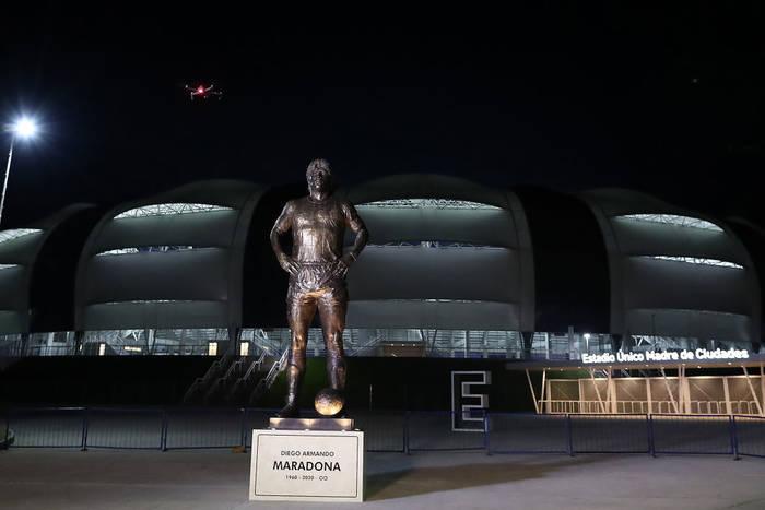 Статуя Диего Марадоны в аргентинском городе Сантьяго-дель-Эстеро