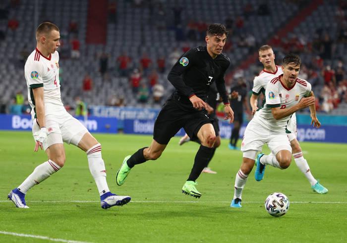 Кадр с матча Германия - Венгрия