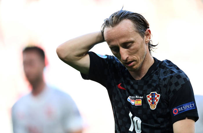 Кадр с матча Хорватия - Испания