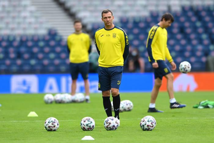 Андрей Шевченко на тренировке сборной Украины