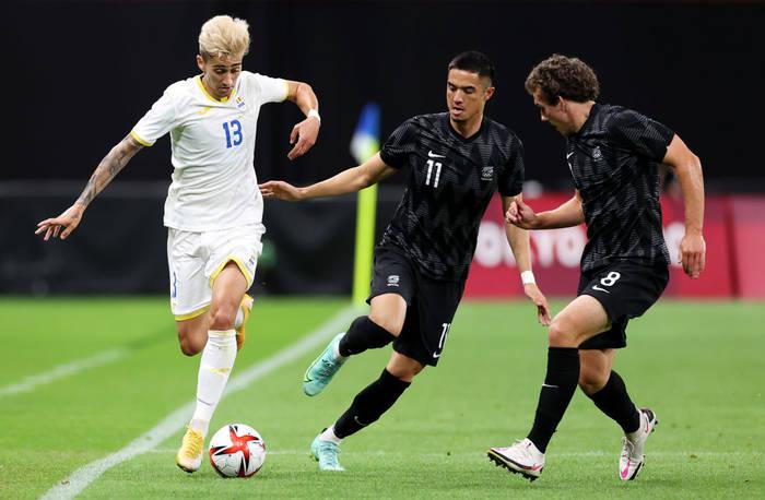 Кадр с матча Румыния - Новая Зеландия
