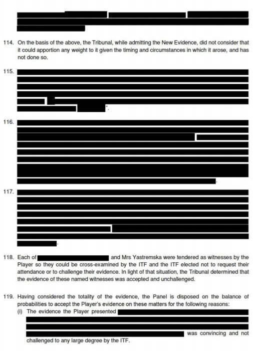 Засекреченные части документа