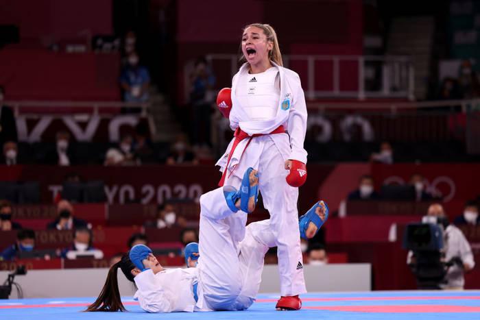 Украинка Анжелика Терлюга завоевала серебро в карате