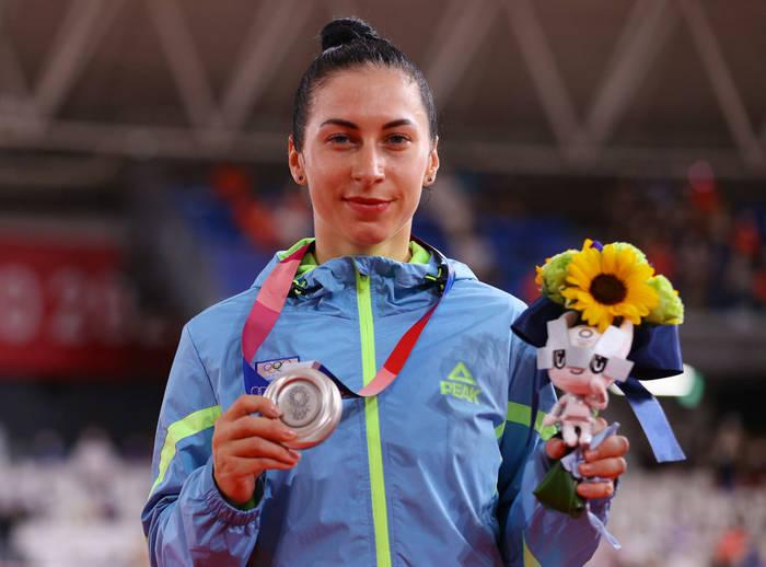 Украинка Елена Старикова с серебряной медалью Олимпиады