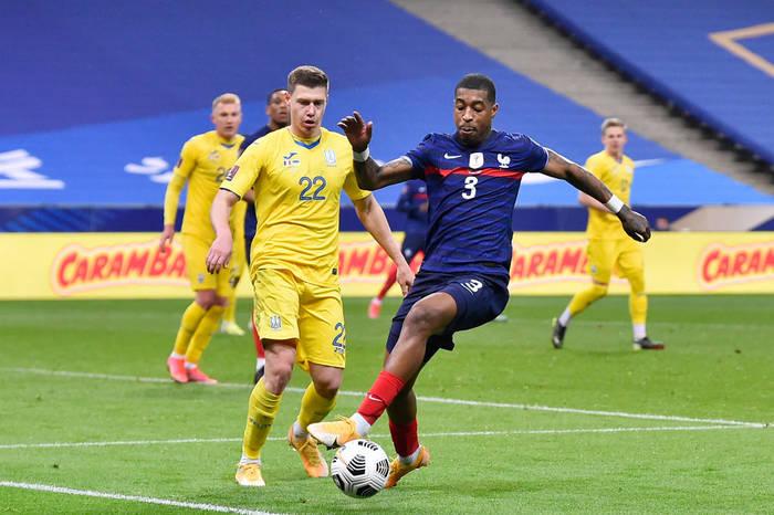 Кадр с матча Франция - Украина