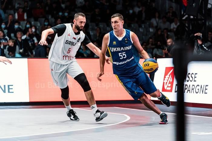 Мужская сборная Украины в матче против Сербии