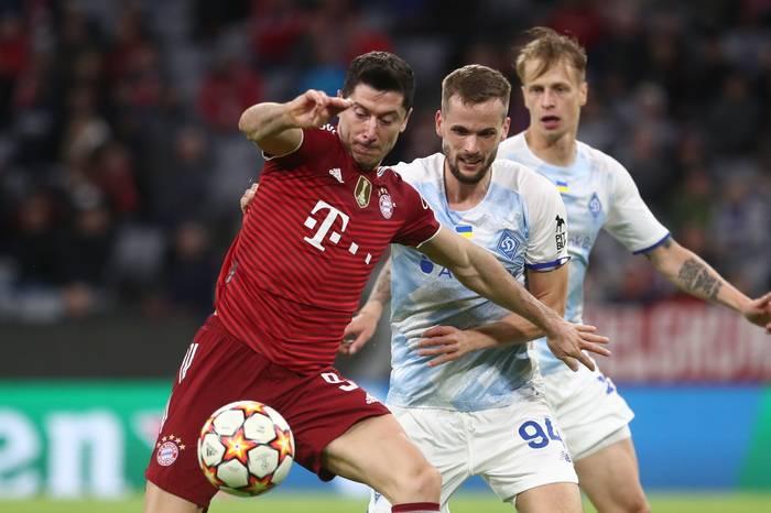 Динамо в матче против Баварии